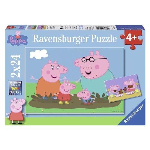 Gurli Gris Puslespil 2 x 24 brikker - Ravensburger