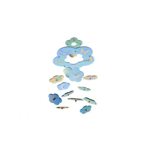Magni Uro med dyr i træ - blå