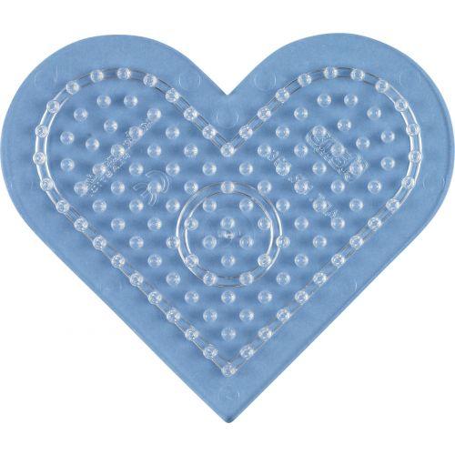 Hama Perleplade Midi - lille hjerte transp.