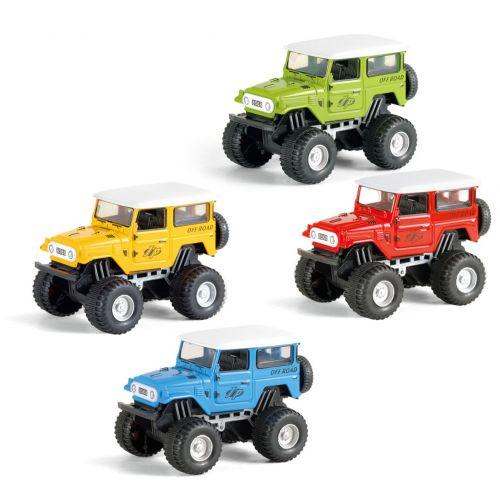 Monster Truck Jeep - pull-back - Assorterede farver