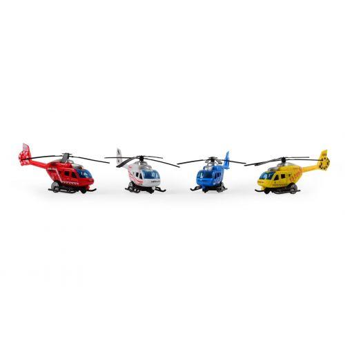 Magni Helikopter City med Pull back - Assorterede
