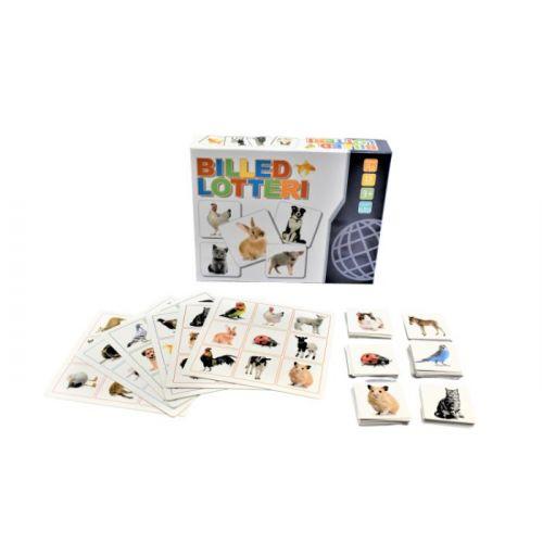 Billedlotteri Dyr m. 6 spilleplader og 54 billedkort