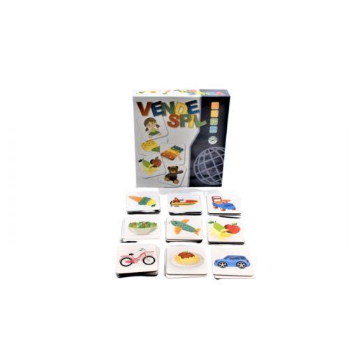 Vendespil m. Legetøj og mad - 2 x 24 brikker