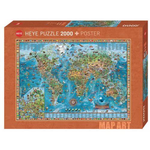 Heye Puslespil - Amazing World - m. 2000 brikker
