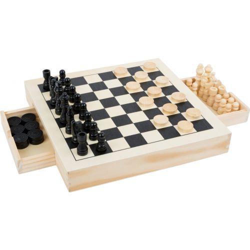 Small Foot 3-i-1 Skak, Dam og mølle og Nine Men's Morris - spil i træ