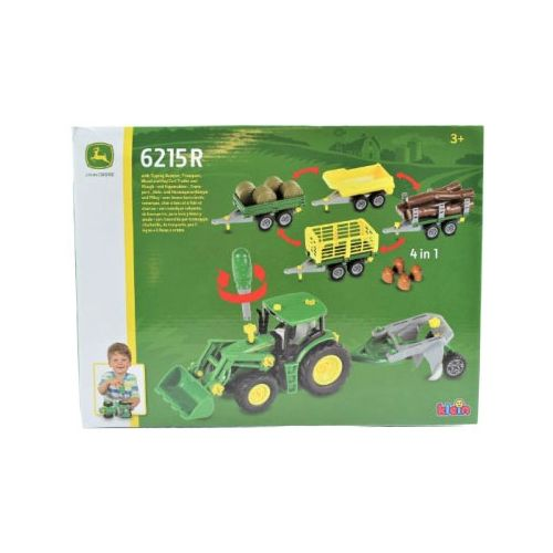 John Deere Tractor m. frontlæsser & anhænger - 4-i-1