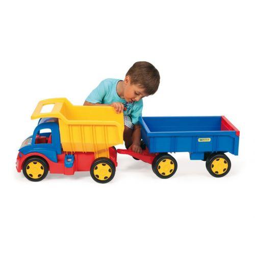 Wader Kæmpe truck med anhænger/trækvogn