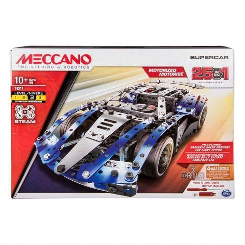 Meccano Byggesæt - m. motor - 25 i 1 -  Supercar