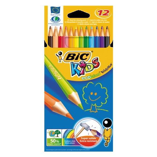 Bic Kids Farveblyanter økologiske 12 stk