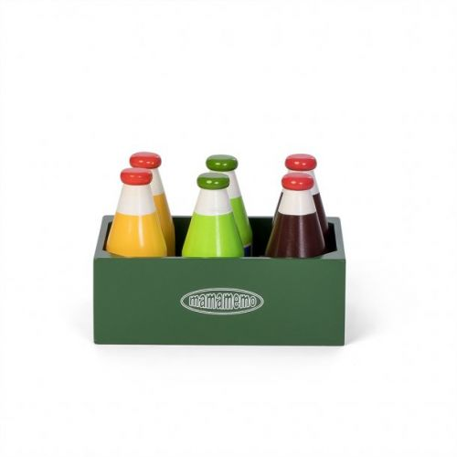 Mamamemo Sodavand i kasse - 6 stk - legemad i træ