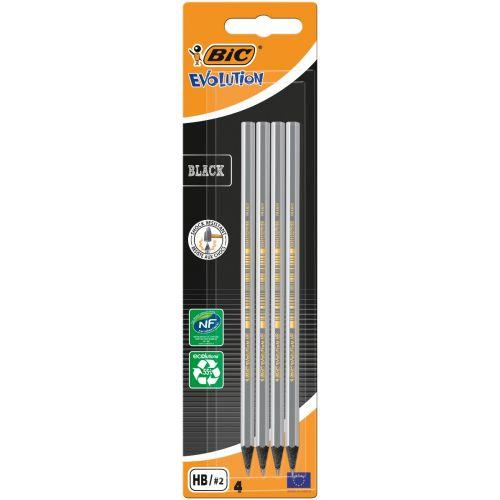 Bic Kids Evolution Black - 4 shock Resistance - Sorte blyanter