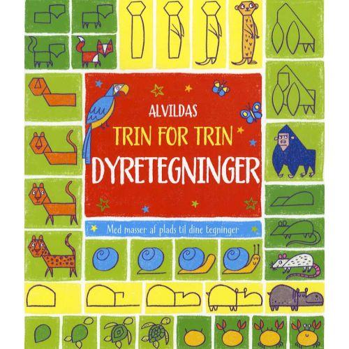 Alvildas trin for trin-dyretegninger - bog