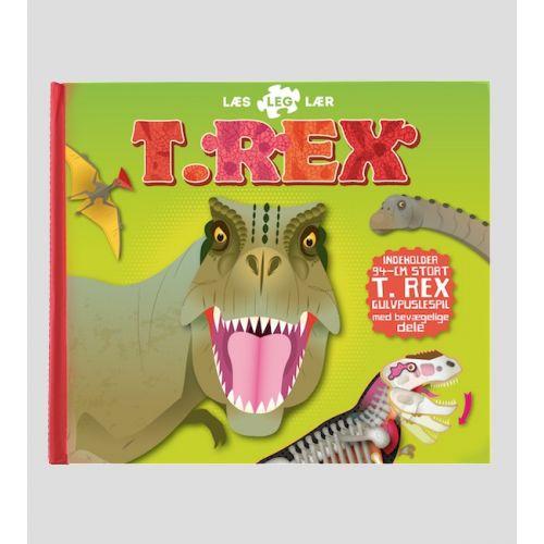 T-Rex, læs leg lær - Børnebog inkl. puslespil