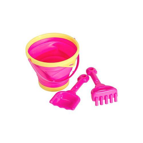 A Little Lovely Company Sæt m. Spand, skovl og rive - Pink
