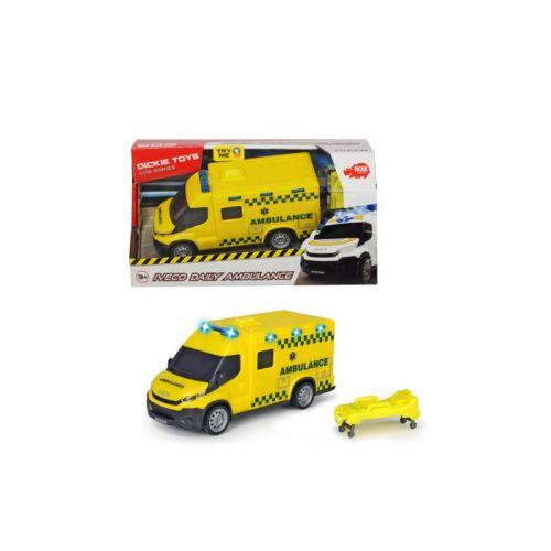 SOS Dansk udrykningskøretøj- Ambulance 18 cm m. lyd og lys