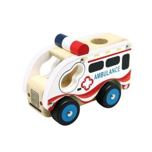 Bino Toys Ambulance i træ