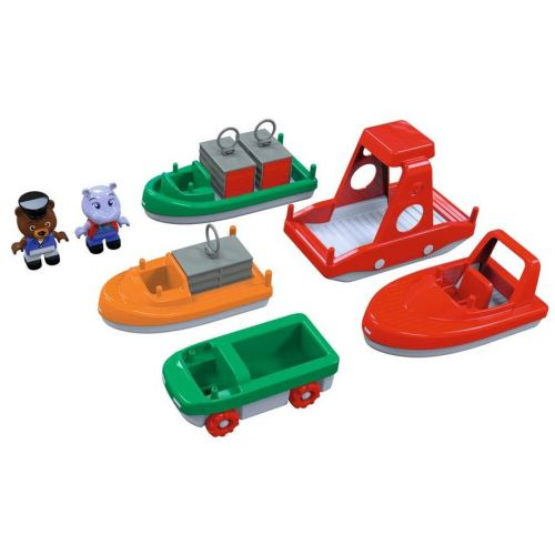 Aquaplay Bådsæt m. 3 både og 2 figurer