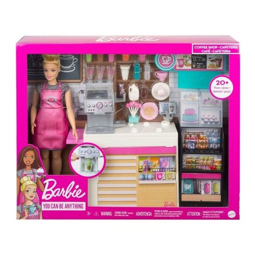 Barbie Coffee Shop Sæt m. Dukke