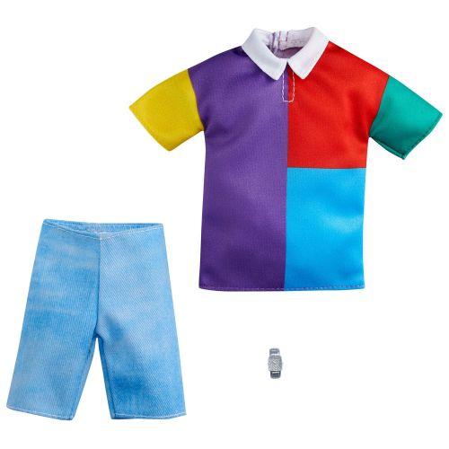 Barbie Ken Fashion Tøj - Farverig t-shirt og bukser