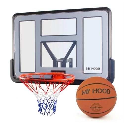 My Hood Basketkurv på plade med basketbold nr. 7 - officiel størrelse