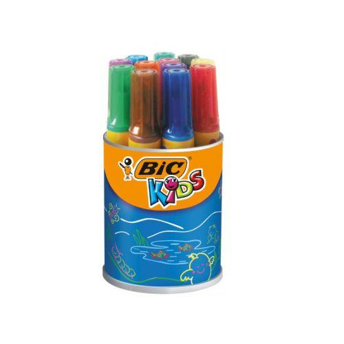 Bic Kids Decoralo Tykke Tusser - bøtte med 12 farver