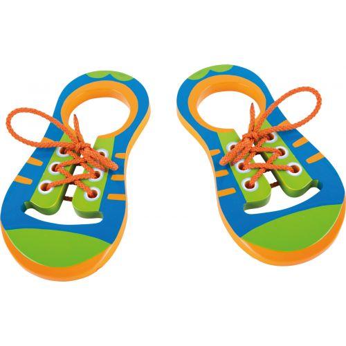 Lær at binde snørebånd - sæt m. 2 sko