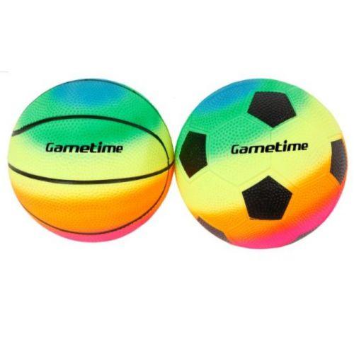 Fodbold og Basketbold - sæt - Ø10 cm