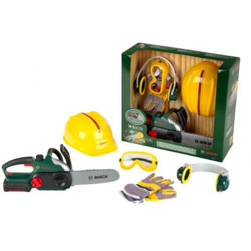 Bosch Kædesavssæt m. hjelm, briller, høreværn og handsker