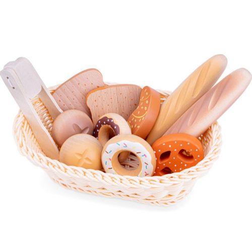 New Classic Toys Kurv m. brød i Træ