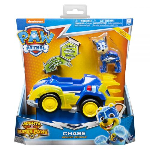 Paw Patrol Mighty Pups Themed Basic Vehicle - Chase