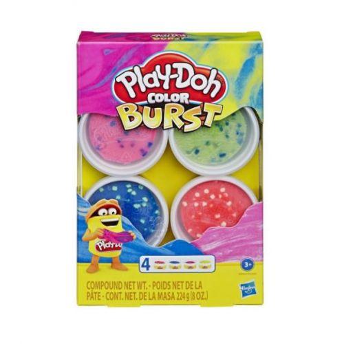 Play-Doh Color Burst 4 stk. - Pakke 1