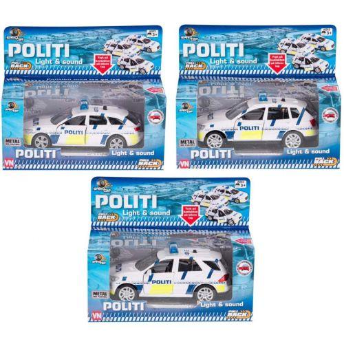 Dansk Politibil m. lys og lyd - assorterede