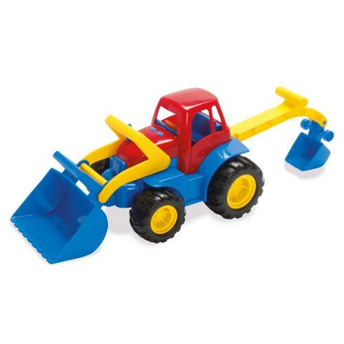 Dantoy Traktor m. Rendegraver og gummehjul