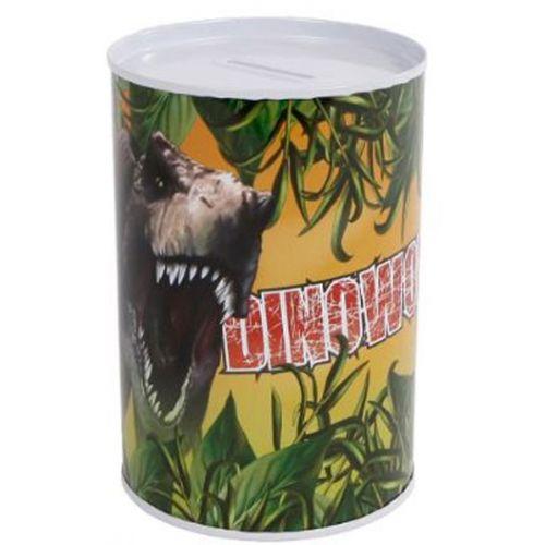 Sparebøsse i metal m. Dinosaur