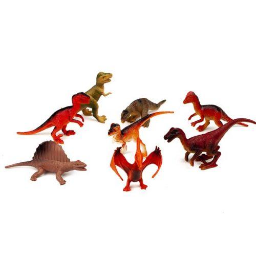 Dinosaurer - 8 stk - i rør
