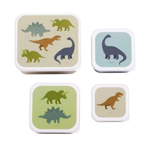 A Little Lovely Company - Dinosaur - Lunch and Snack box sæt