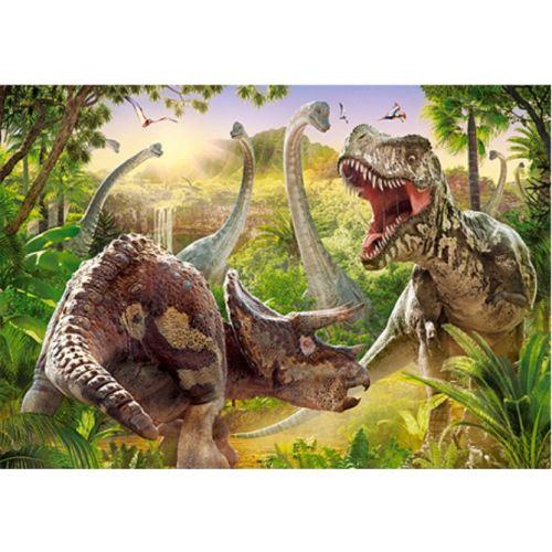Puslespil m. 180 brikker - Dinosaur Kamp