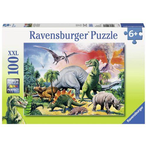 Among the Dinosaurs Puslespil - 100 brikker - Ravensburger