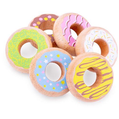New Classic Toys Donuts i Træ - Sæt med 6 stk.
