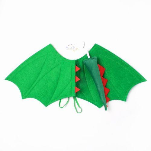 Astrup Drage Vinge i Grøn Filt - til børn