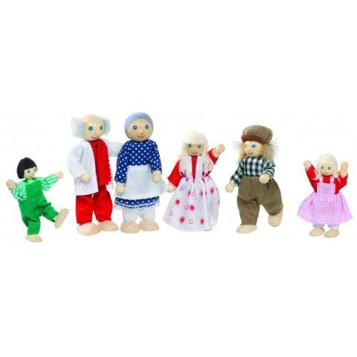 Goki Dukker til dukkehus - landmandsfamilie