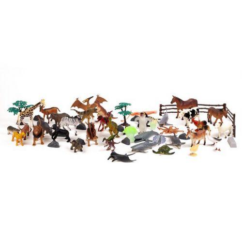 Stor pakke m. dyr - 60 stk - forskellige dyr