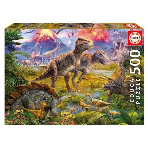 Educa 500 Encounter - Dinosaur Puslespil m. 500 brikker