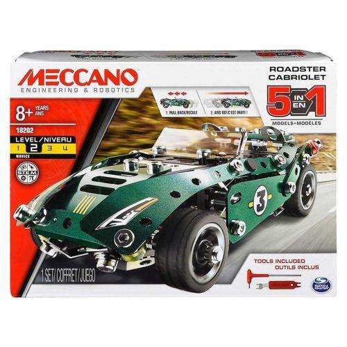 Meccano Byggesæt - 5 i 1 - Roadster Cabriolet