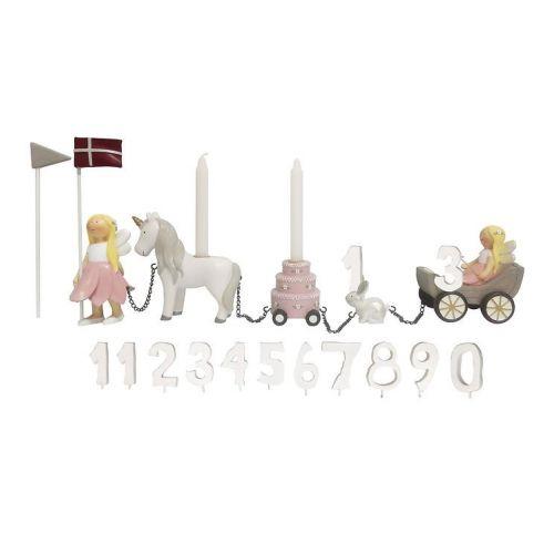 Kids By Friis Fødselsdagstog Blomsterfeer m. 11 tal