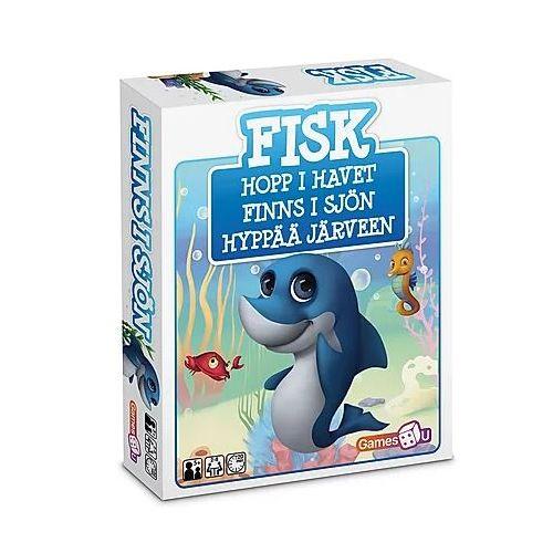 Games4U - Fisk kortspil og Puslespil m. 52 brikker - Sjovt børnespil