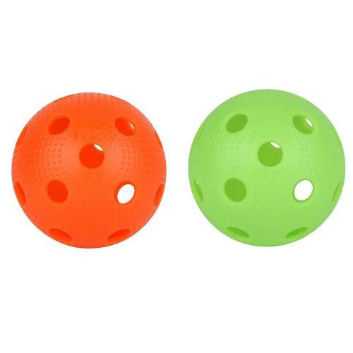 Stiga Floorballs/Hockey bolde - Grøn og Orange