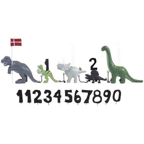Kids By Friis Fødselsdagstog Dinosaur m. 11 tal