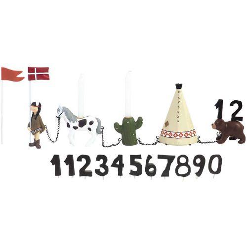 Kids By Friis Fødselsdagstog Indianerpige m. 11 tal