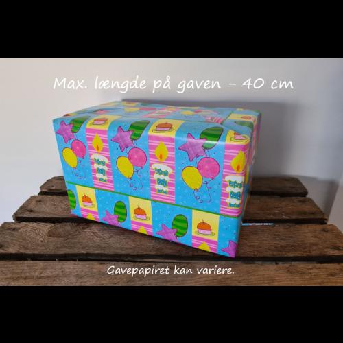Gaveindpakning - pr. gave - max 40 cm